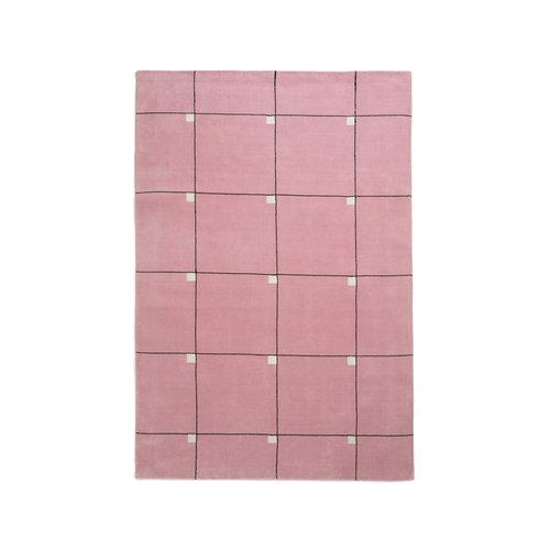 Alfombra de lana Modern Pink de Nordic Knots