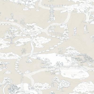 papel pintado Kenrokuen en rosa