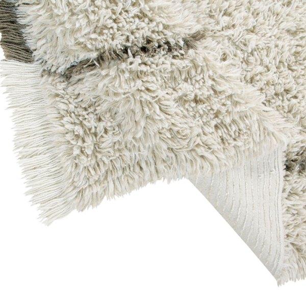 detalle Alfombra de lana lavable woolable Autumn Breeze de Lorena Canals