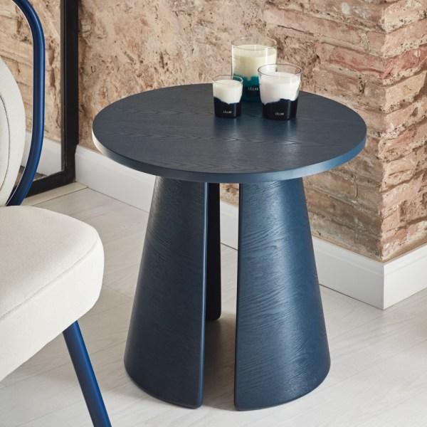 mesa auxiliar azul