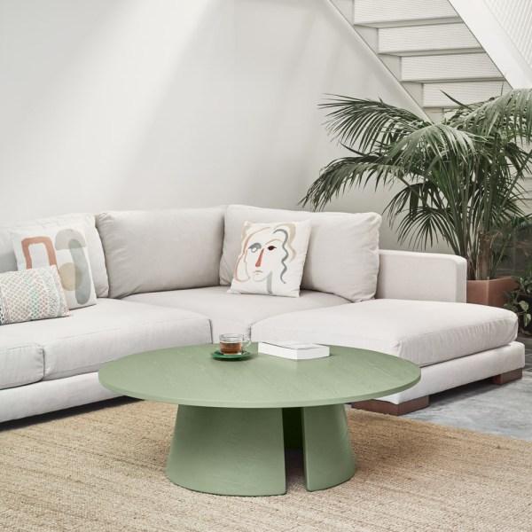 mesa de centro cep de teulat verde
