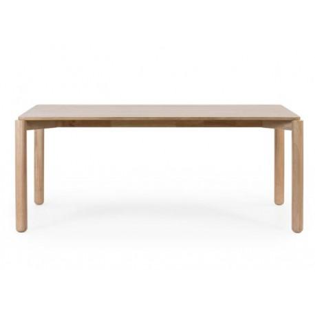 mesa de comedor rectangular de madera de fresno