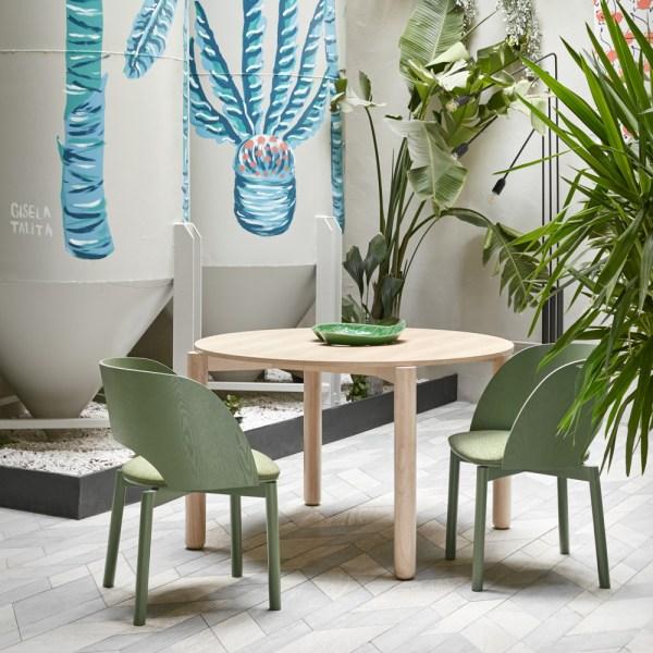 mesa Atlas en madera de fresno