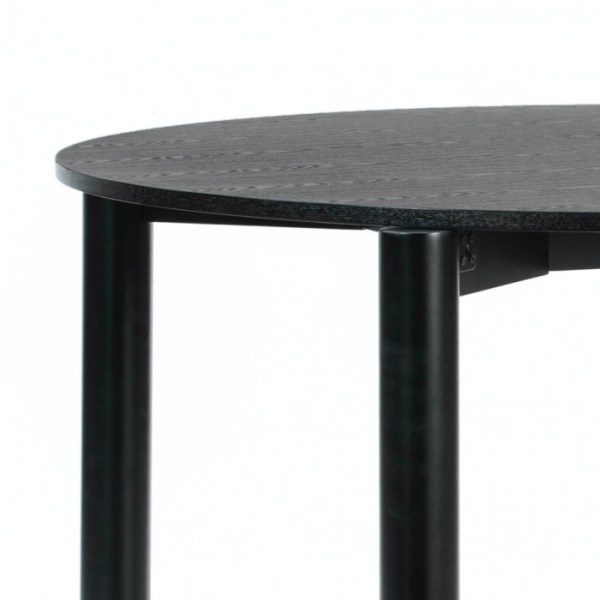 mesa de comedor redonda en negro