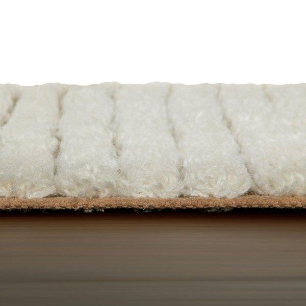 detalle Alfombra lavable woolable fields acabado Almond de Lorena Canals