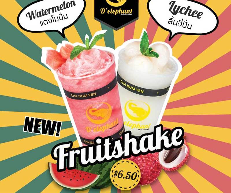 Two Fruit Shake menus at Chadstone
