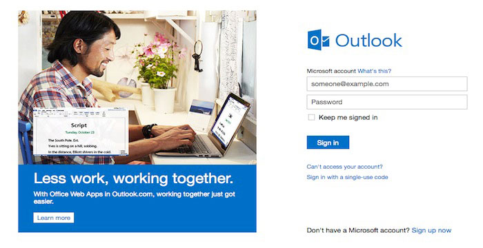 Delete Outlook account