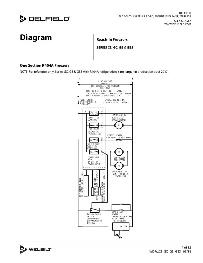 Wiring Diagram For True Tuc 27f Diagram For HVAC Wiring