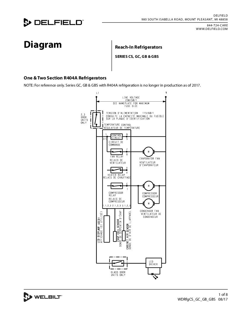 medium resolution of delfield product control for reach in cooler wiring