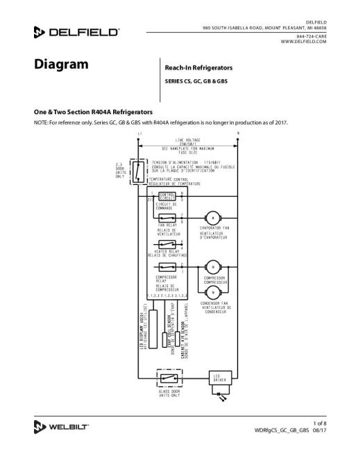small resolution of delfield product control for reach in cooler wiring