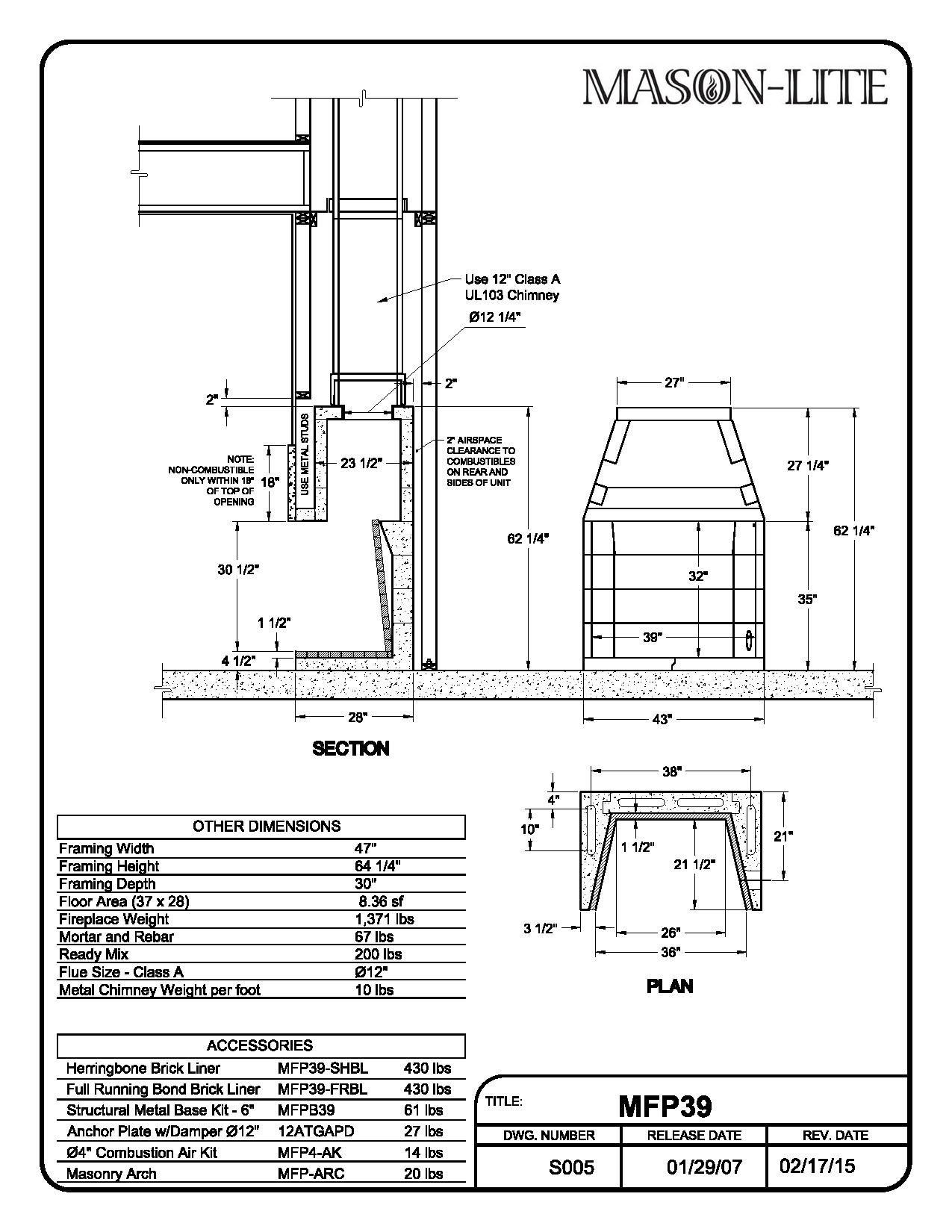 Prefab Fireplace Diagram