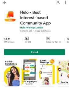 Helo app,how to install Helo app,Delhi blogger