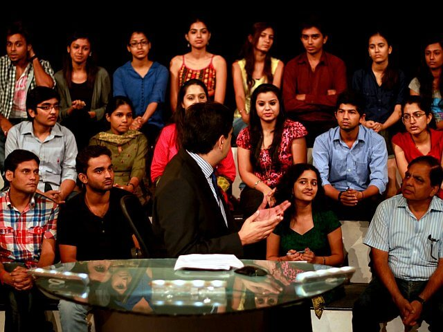 dla students ndtv big fight