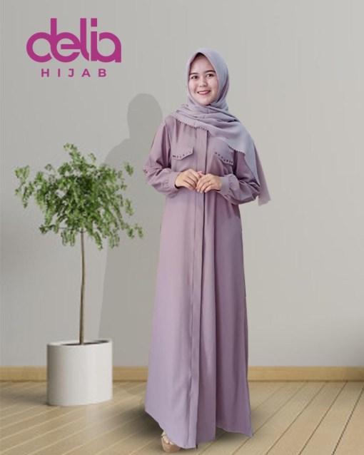 Model Gamis Terbaru 2020 - Natalia Dress - Delia Hijab - M