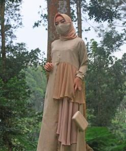 Baju Gamis Model Sekarang - Auristela Dress - Delia Hijab 2