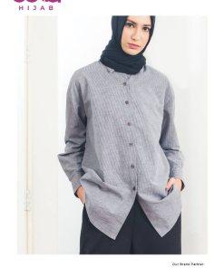 Baju Modern Masa Kini - Tunik Aune Stripe - Delia Hijab