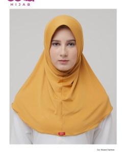 Kerudung Bergo Zoya - Bergo Marsha HL Casual - Delia Hijab Orange