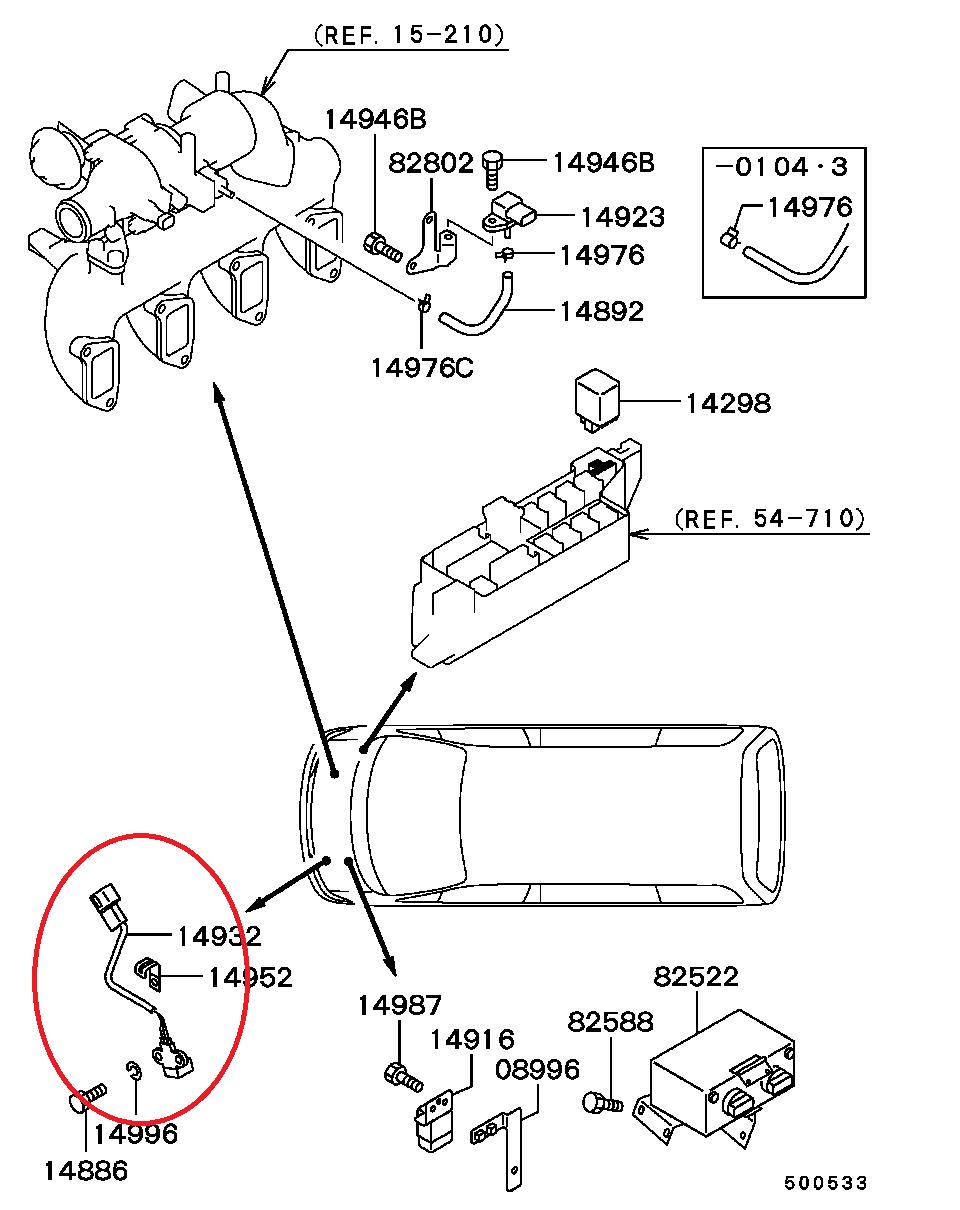 hight resolution of l400 4m40 crank angle sensor