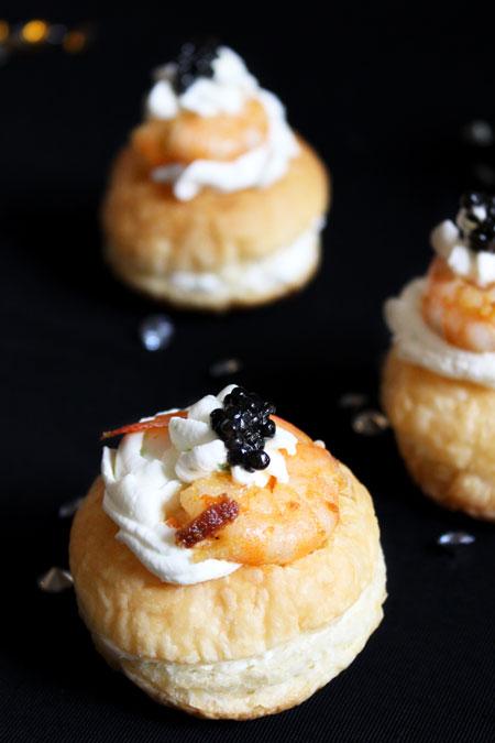 bouchées-crevettes-caviar