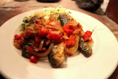 Sardine Escabeche Finished Dish