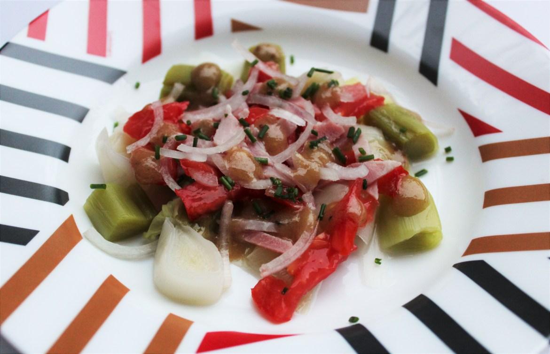 Salade de Poireaux et Tomates Vinaigrette