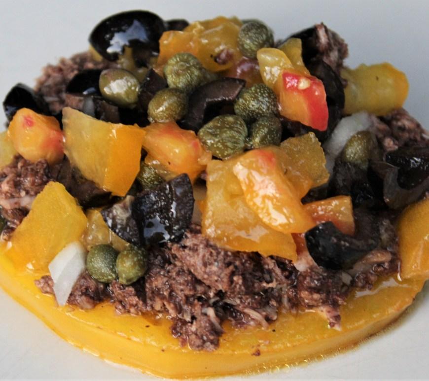 Délicimô ! - Recette Tartine de Tomate au Thon Tapenade Olives Câpres Provençal - www.delicimo.fr