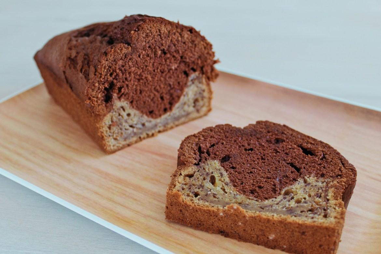 Cake Banana Bread Marbré au Chocolat