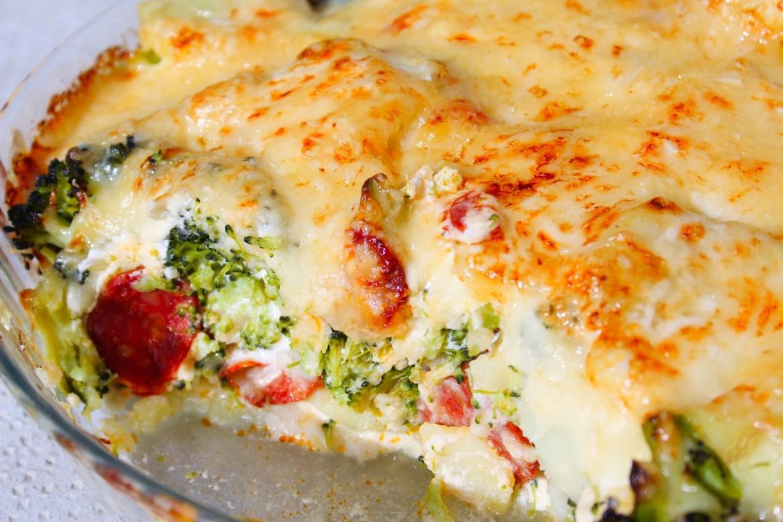 Gratin de Pommes de Terre et Brocolis au Chorizo