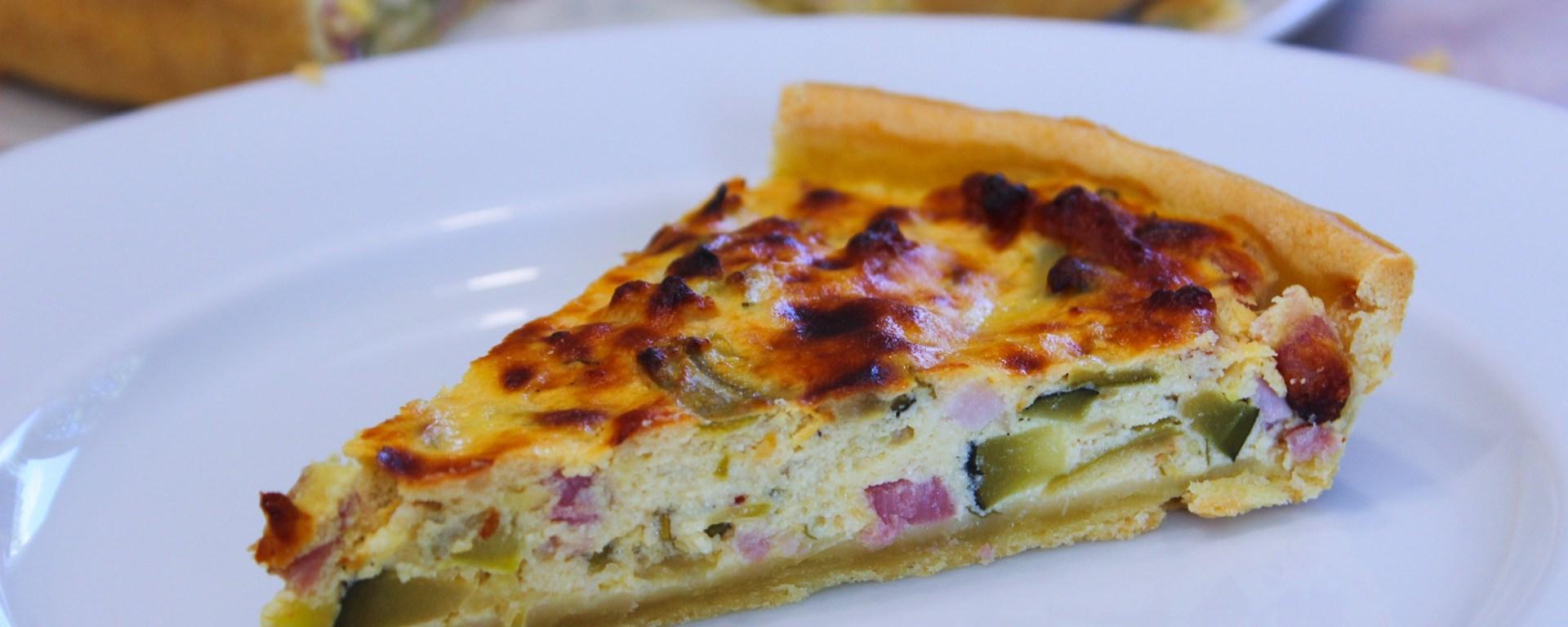 Délicimô ! - Recette de la Tarte à la Ricotta aux Courgettes aux Lardons au Parmesan et au Basilic - www.delicimo.fr