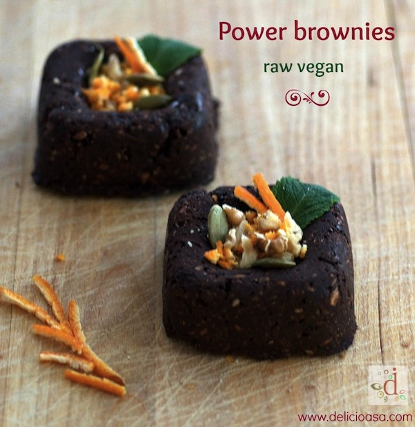 power brownies raw - Delicioasa.com