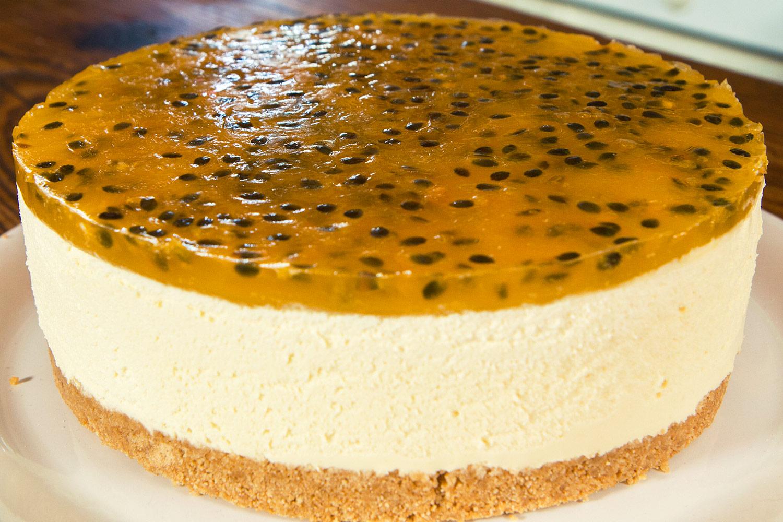 Cheesecake de maracuy  Deliciosicom