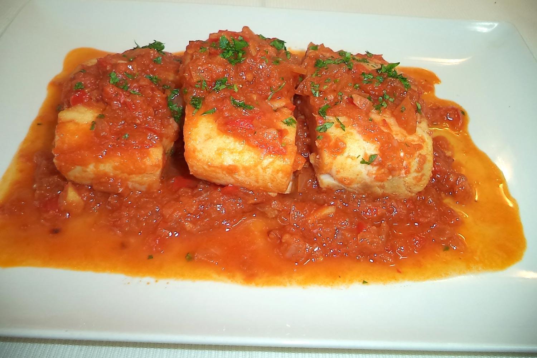 Bacalao con tomate con thermomix  Deliciosicom