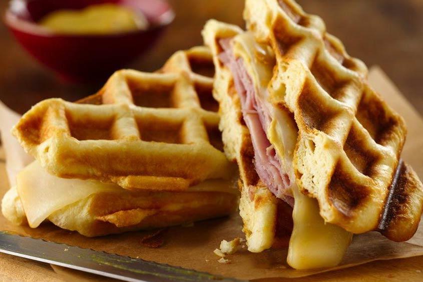 Waffles salados  Deliciosicom