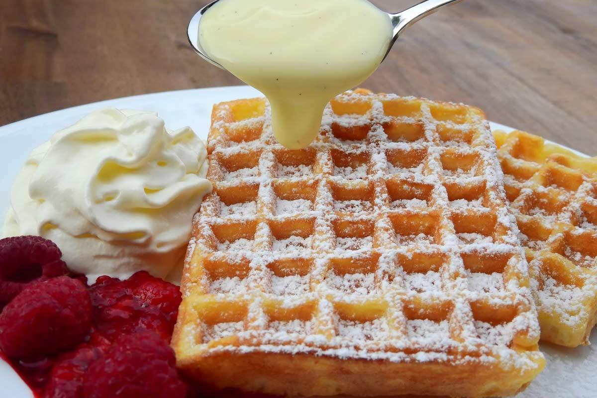 Receta de Waffles dulces Gofres  waffles belgas