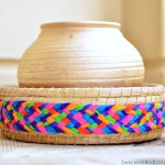 Hand Woven Basket Makeover {In Under 5 Minutes}