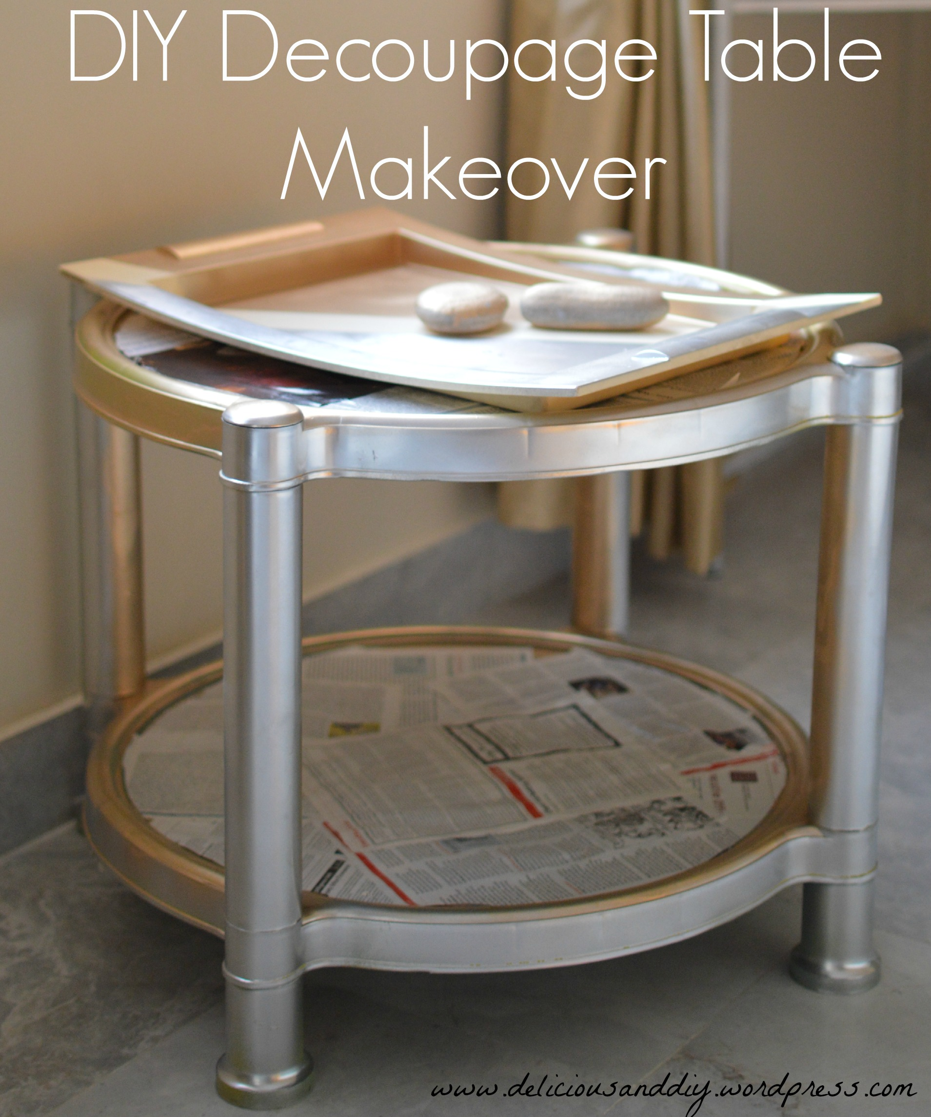 DIY Decoupage Table Makeover Delicious And DIY