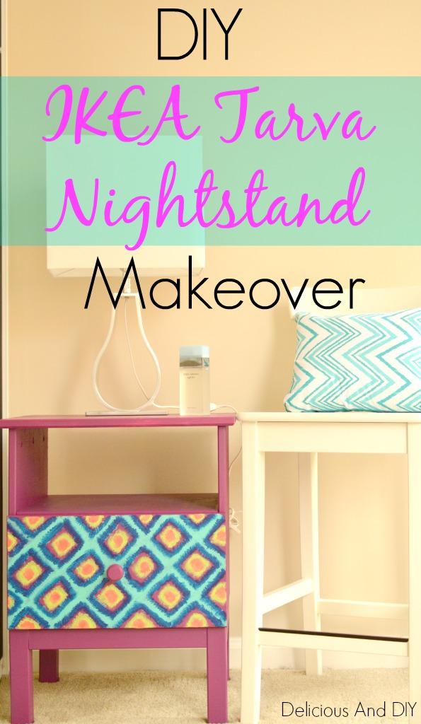 ikea nightstand makeover