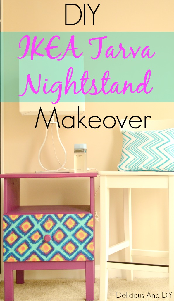 Diy Two Drawer Table Makeover Delicious And Diy