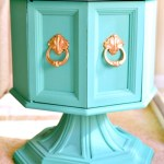 Octagon Table Gets A Bright Makeover