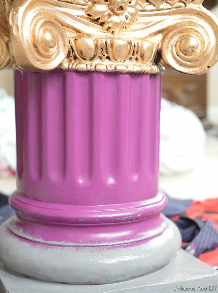 DIY Wood Column Pillar Makeover| DIY Wood Pillar Project| DIY Column Makeover| Pillar Makeover Ideas| Ombre Pillar Makeover| Painted Pillar| Before and After Projects