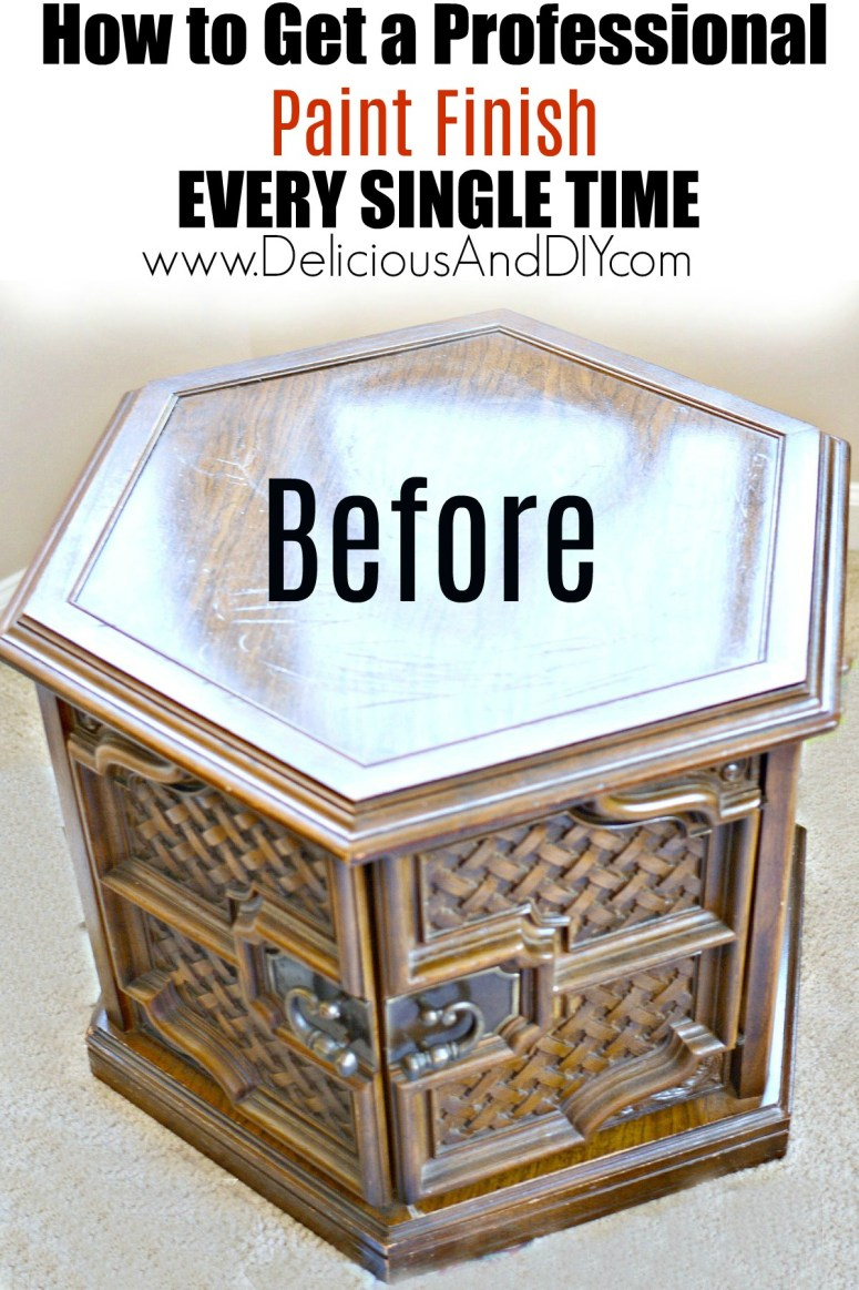 Paint a thrift store table like a professional every single time