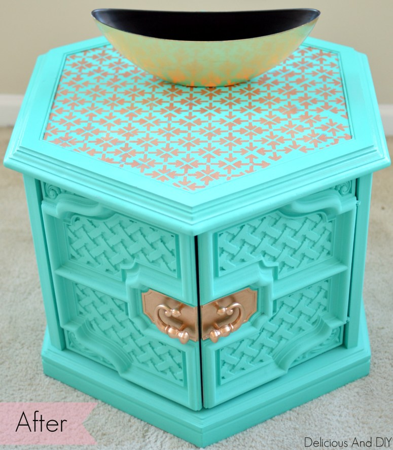 Coffee Table Gets A Facelift- Delicious And DIY