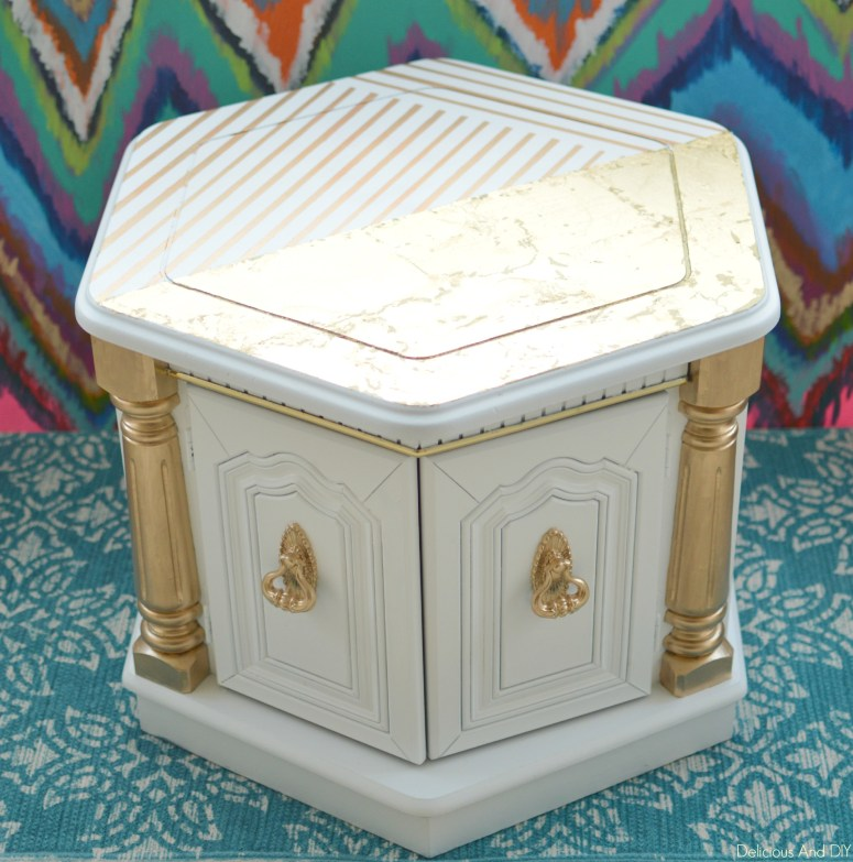 Royal Gold Table| White Furniture Decor| Gold Foil Project| Coffee Table Makeover Ideas