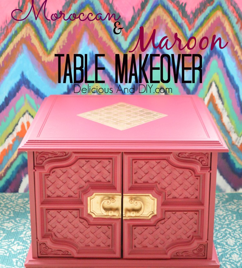 Moroccan And Maroon Table Makeover - Delicious And DIY