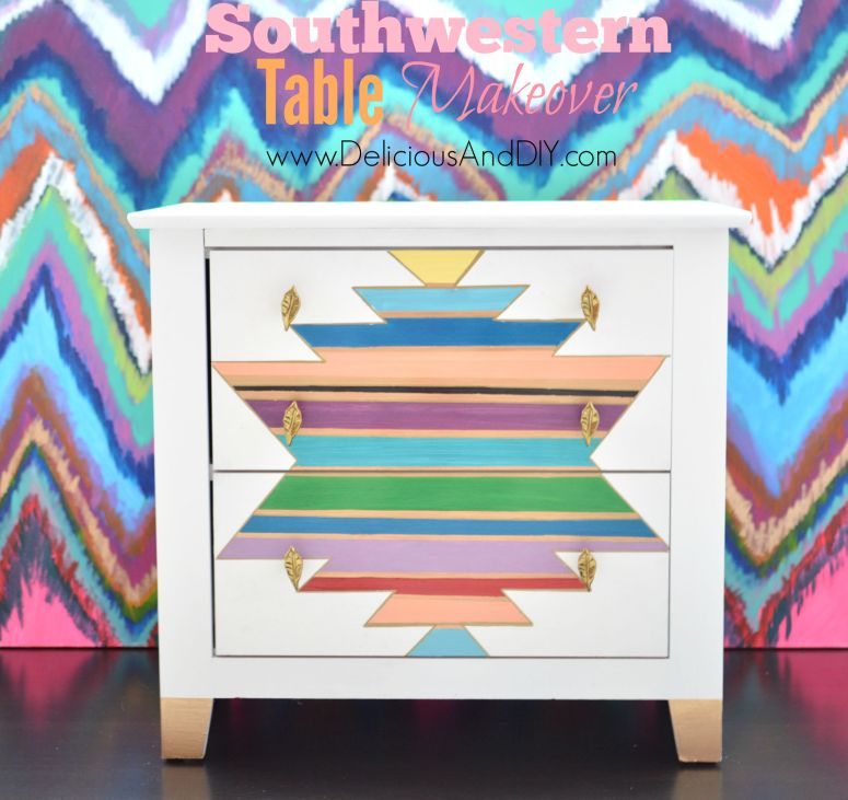 Southwestern Table Makeover- Delicious And DIY
