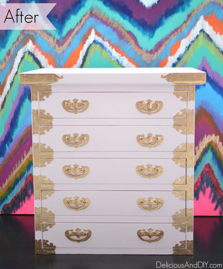 Mini Chest of Drawers Makeover - Delicious And DIY