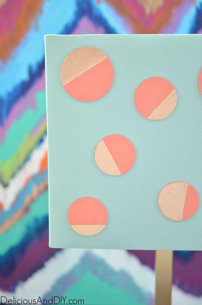 Polka Dot Lamp Makeover- Delicious And DIY