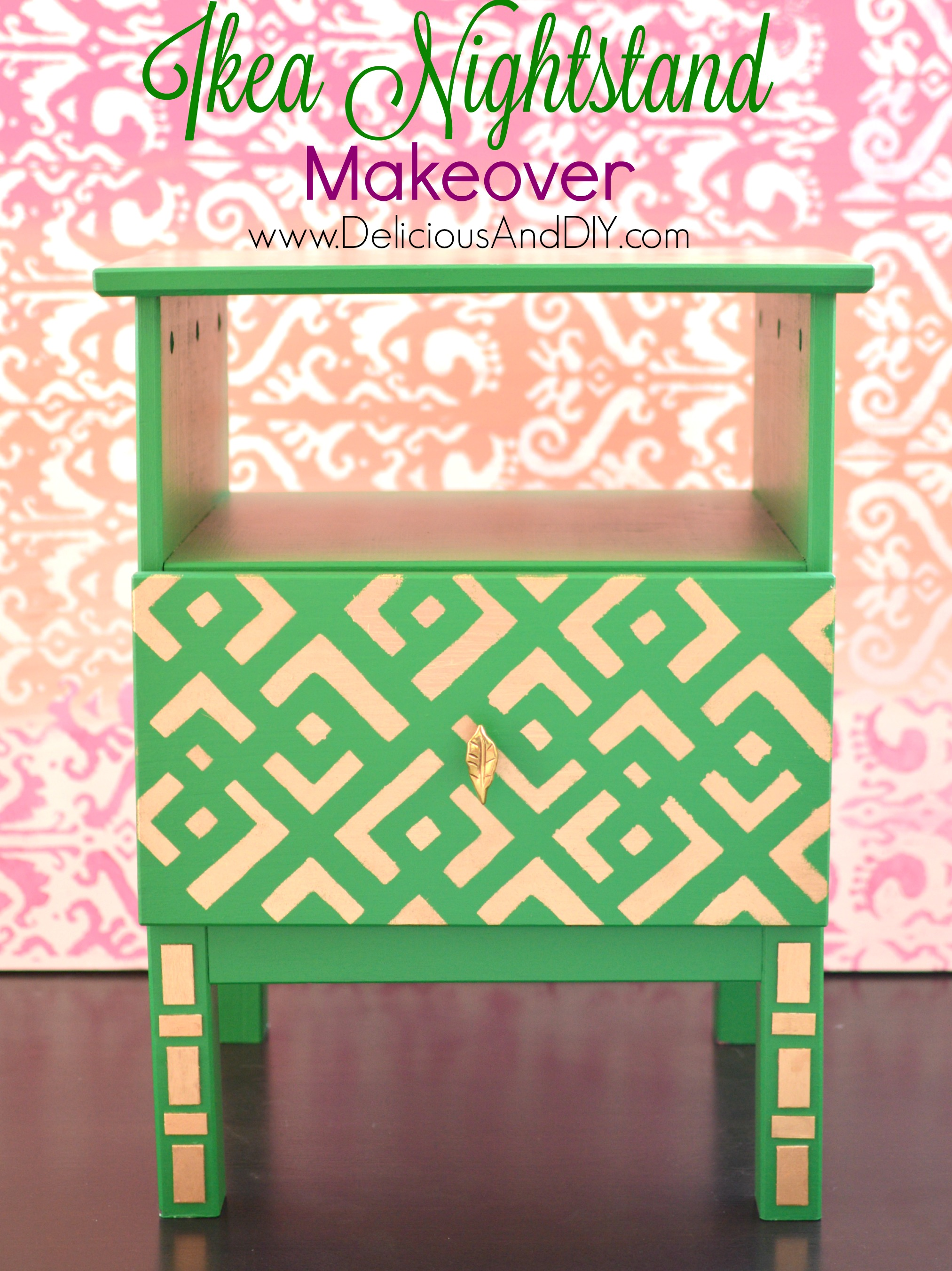 ikea nightstand makeover delicious and diy