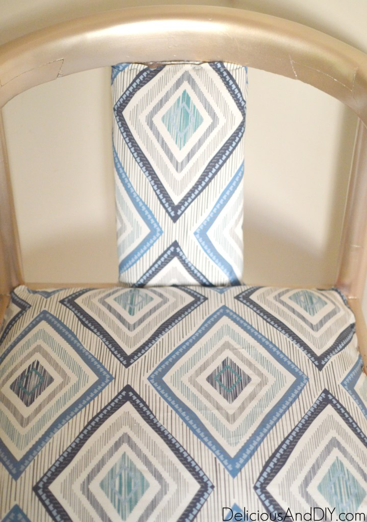 DIY Upholstered Chair - Delicious And DIY