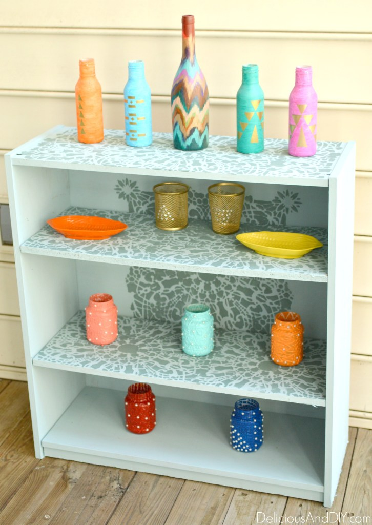 Bookshelf Makeover - Delicious And DIY